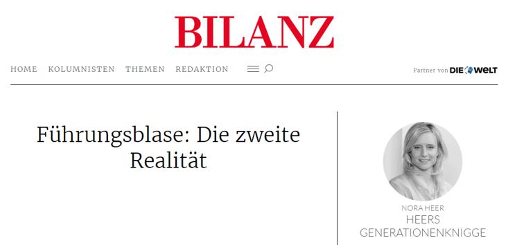 BILANZ - Nora Heer